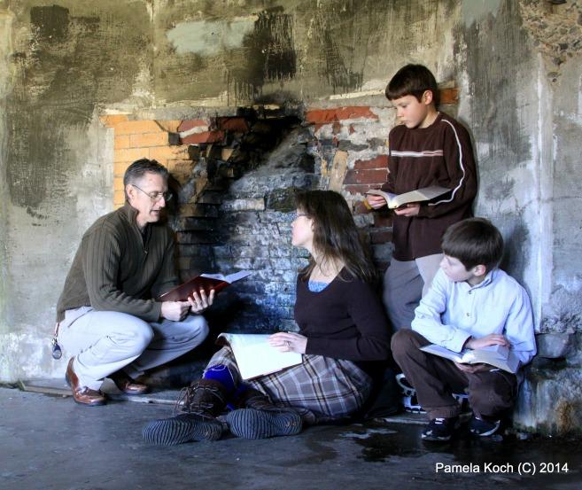 Family Worship Fireplace