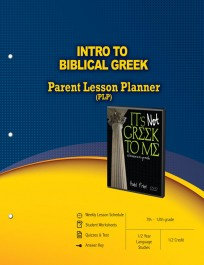Master Books Intro to Biblical Greek Lesson Planner