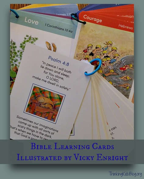Bible Learning Cards Illustrated by Vicky Enright