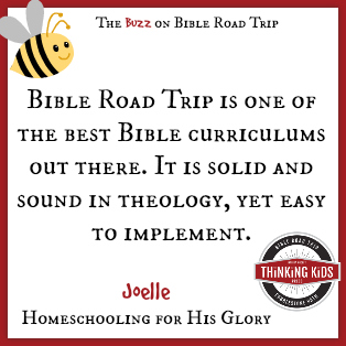 Is is solid and sound in theology, yet easy to implement. ~ Joelle at Homeschooling for His Glory ~ Have YOU seen Bible Road Trip?