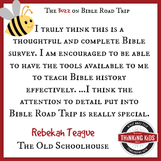 I think the attention to detail put into Bible Road Trip is really special. ~ Rebekah Teague at The Old Schoolhouse ~ Have YOU seen Bible Road Trip, an AWESOME children's Bible curriculum?