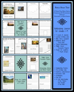 Check out a week of the Bible Road Trip notebooking journals!