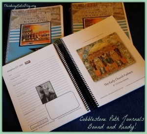 Cobblestone Path Church History Journals ~ bound and ready to use!