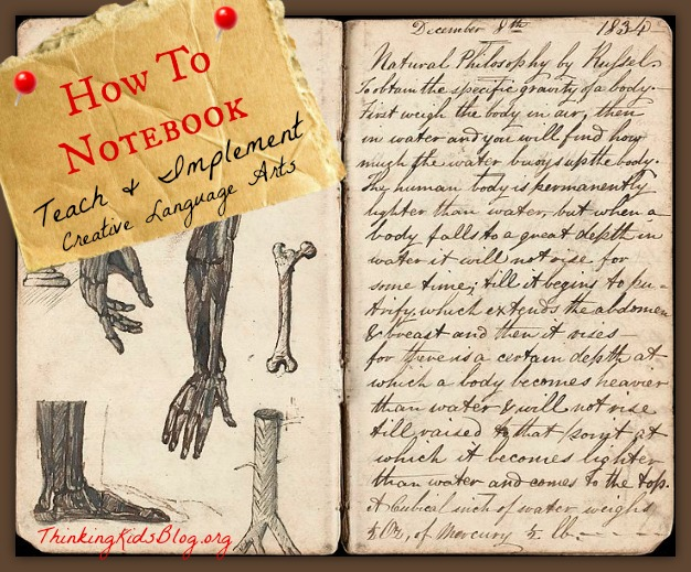 How to Notebook ~ teach and implement creative language arts in your home!