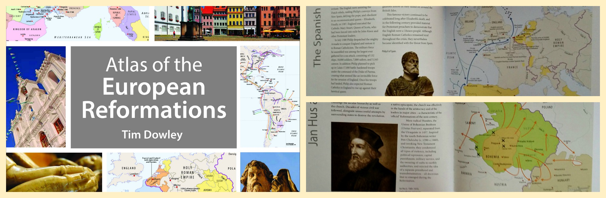 Check out Tim Dowley's Atlas of the European Reformations