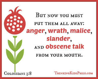 Overcome Anger in Parenting {Free 45-card Scripture memory set in KJV or ESV}