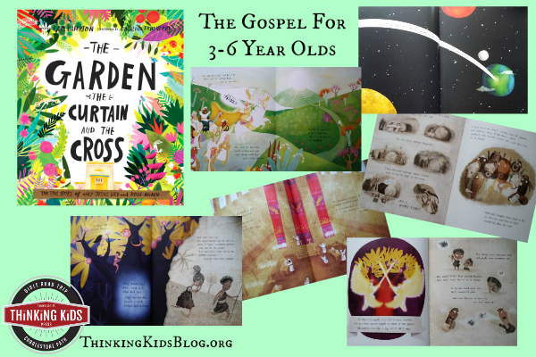 The Garden The Curtain and The Cross by Carl Laferton is a wonderful depiction of the gospel for 3-6 year olds.